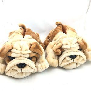 ROCKET DOG Bull Dog Fuzzy Slippers NWOT 9M